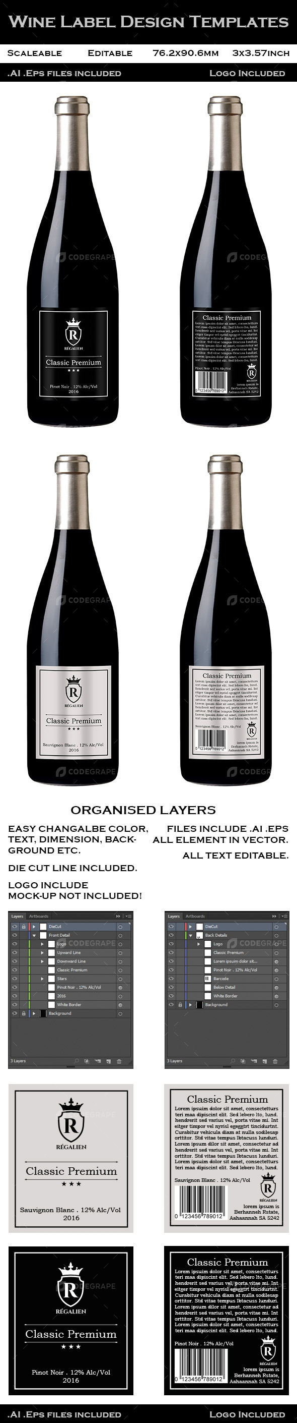 Wine Label Design Templates