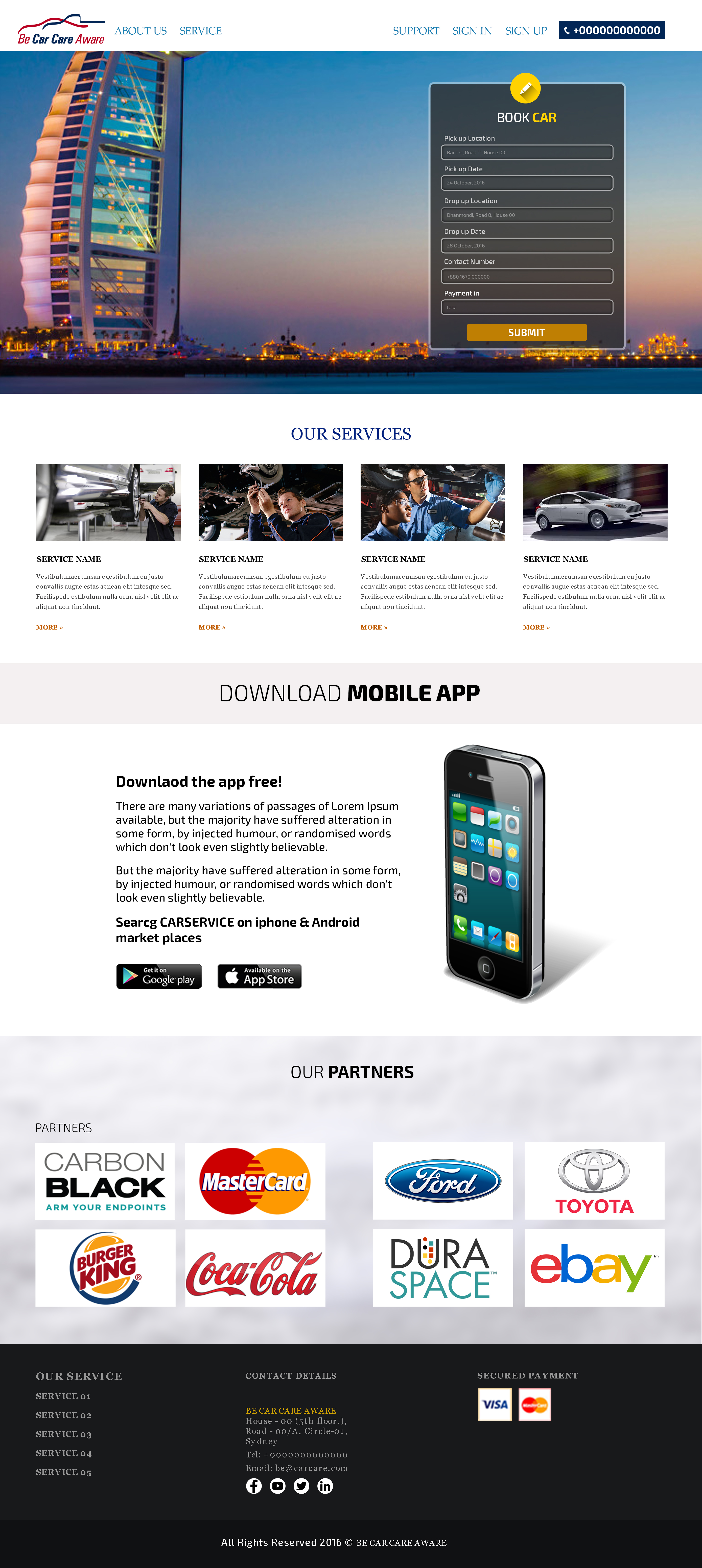 car service web template design themes codegrape. Black Bedroom Furniture Sets. Home Design Ideas