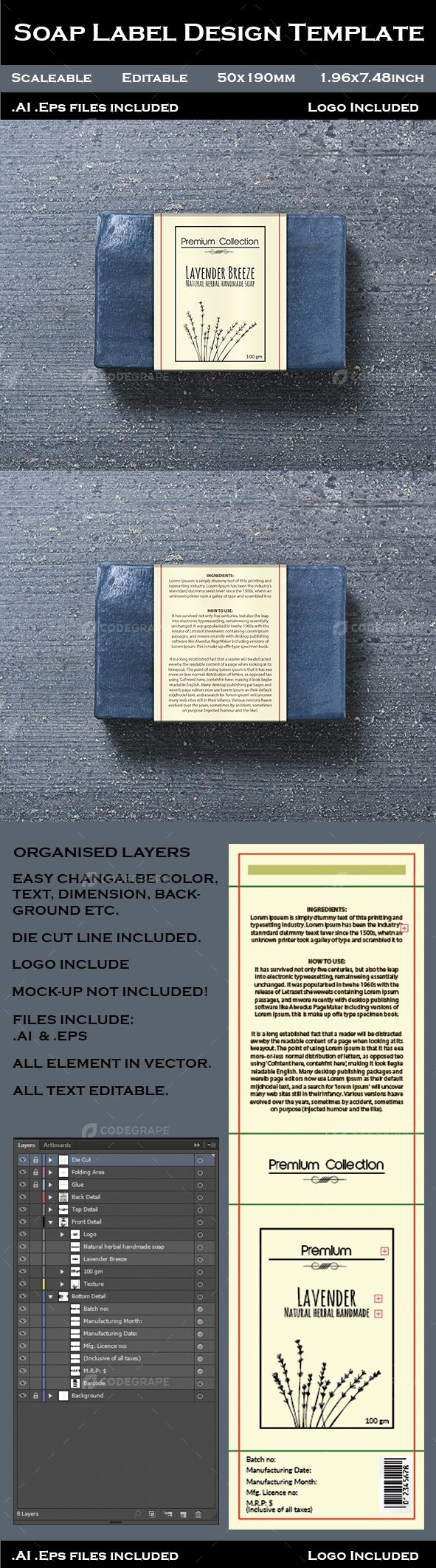 Soap Label Design Template