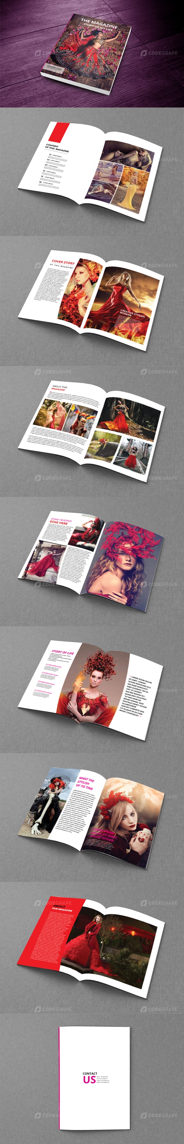 Clean Magazine Template vol_02
