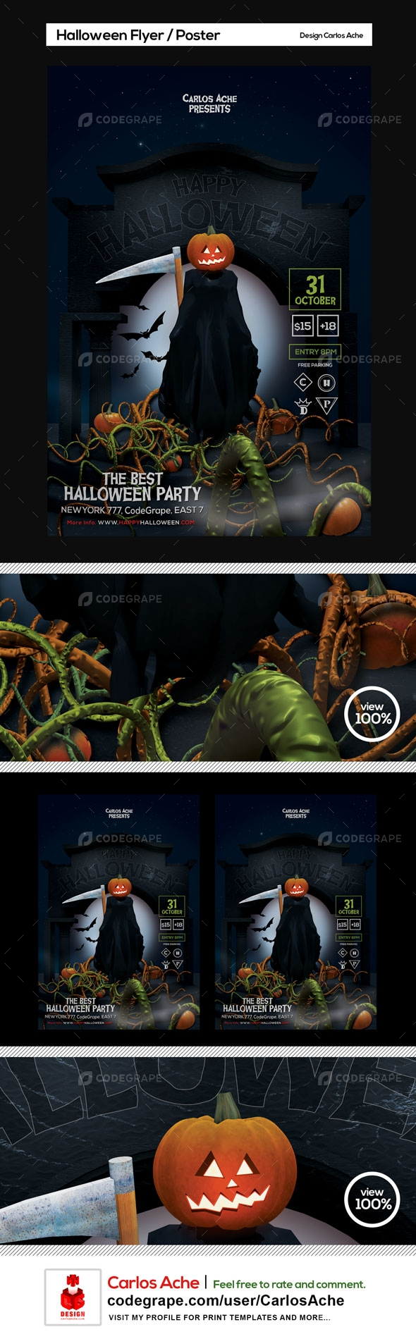 Halloween Flyer and Poster Template