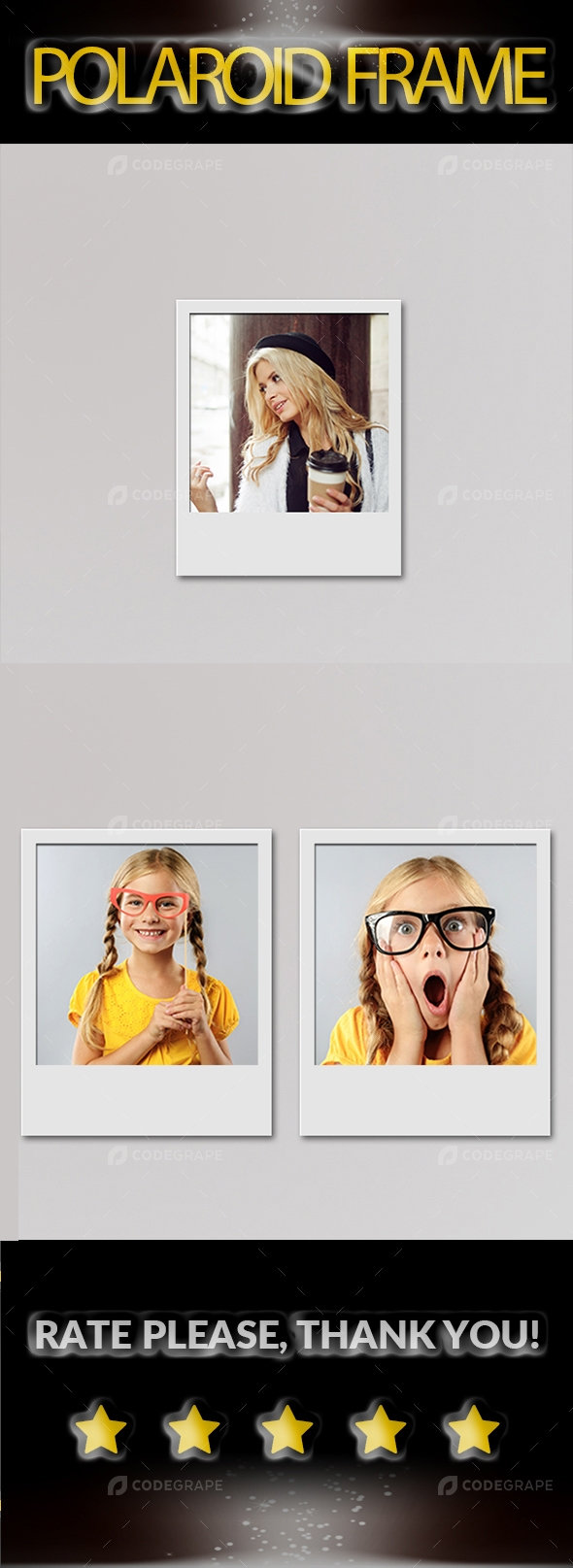 Polaroid Photo Frame Mock-Up