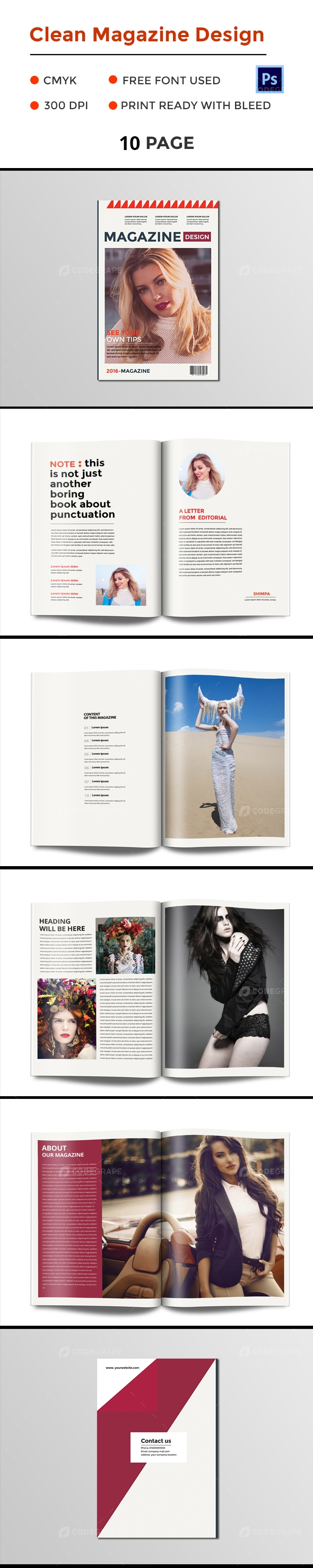 Clean Magazine Design