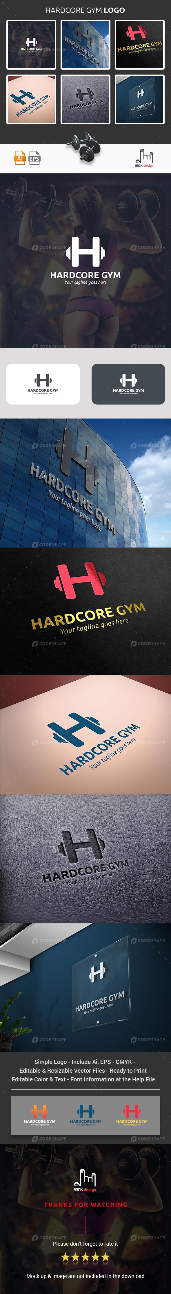 Hardcore GYM Logo