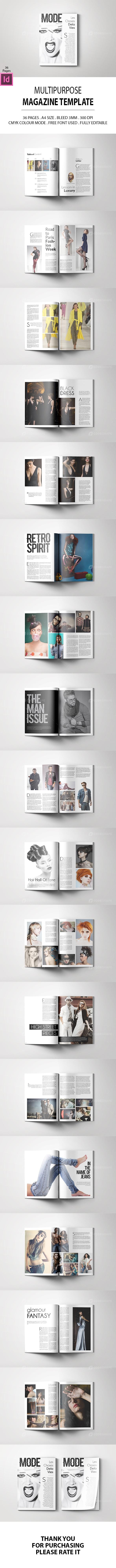 Mode & Multipurpose Magazine Template
