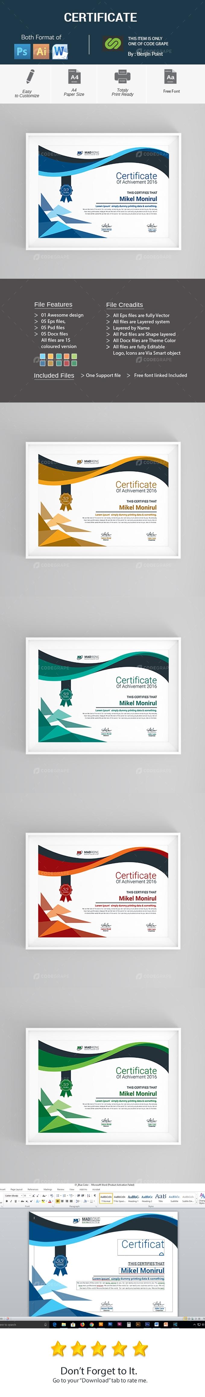 Achivement Certificate