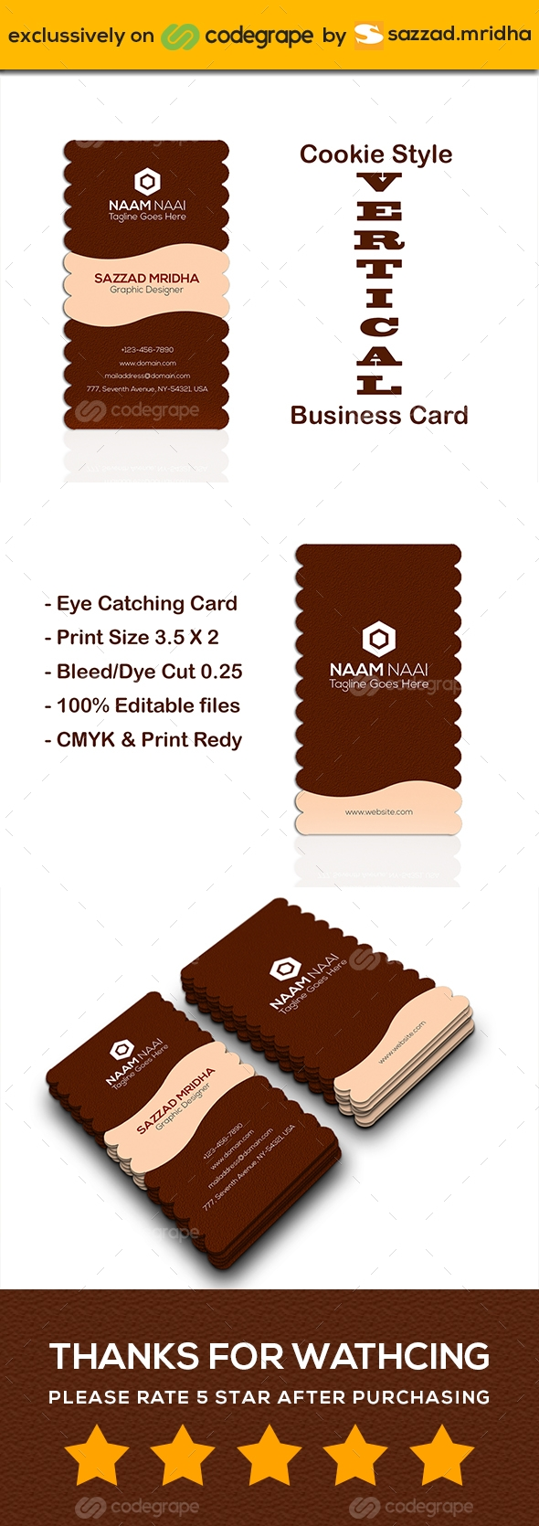 Cookie Style Business Card