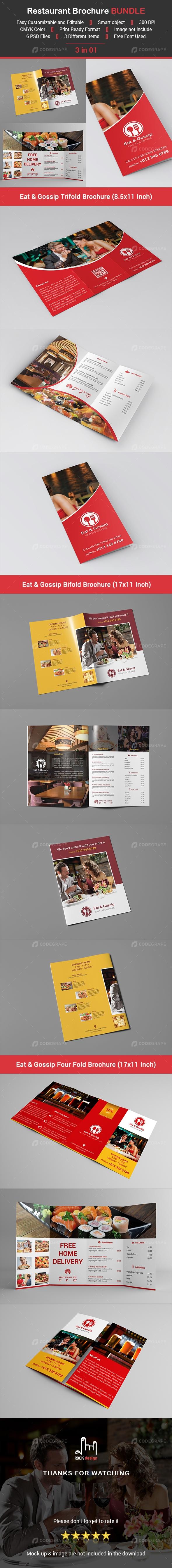 Restaurant Brochure BUNDLE