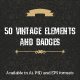 50 Vintage Elements and Badges