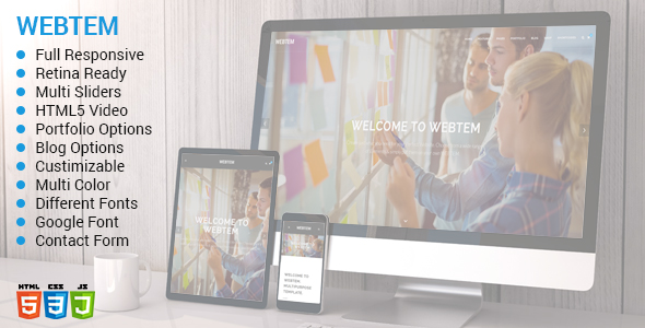 Webtem - Multi-Purpose HTML5 Template
