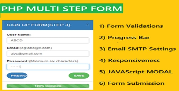 PHP+AJAX Multi-step Form - Scripts | CodeGrape