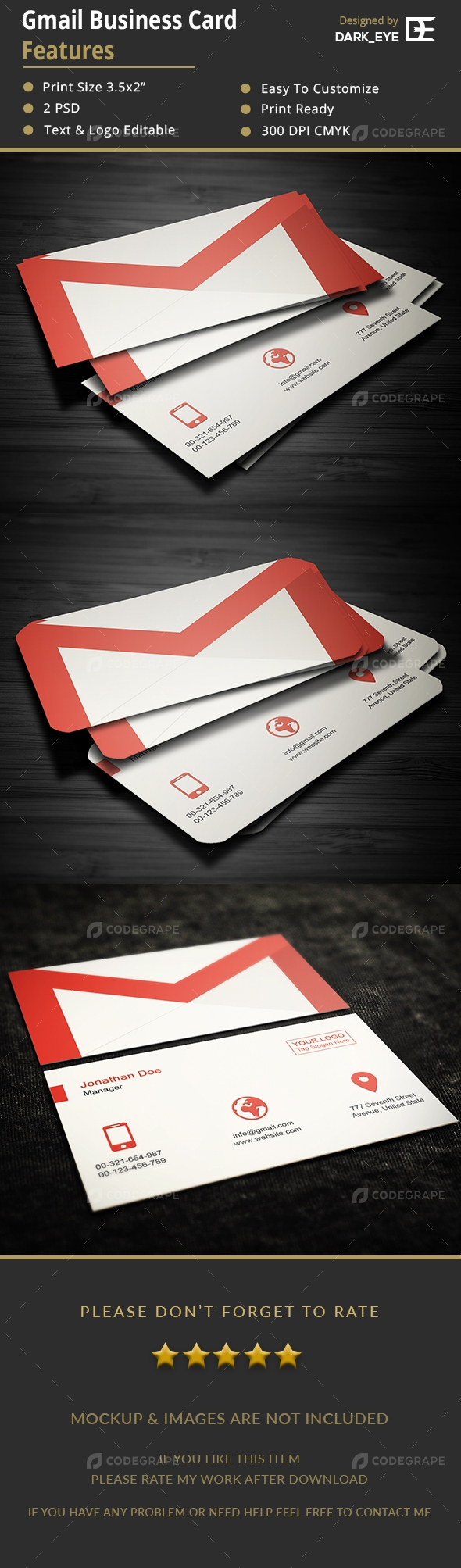 Gmail Business Card