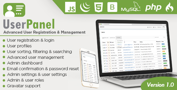 Php user login registration script with all features
