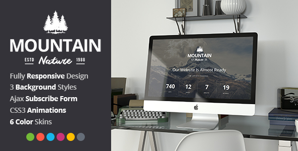 Mountain - Responsive Coming Soon Template