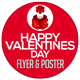 Happy Valentines Day Flyer and Poster Template