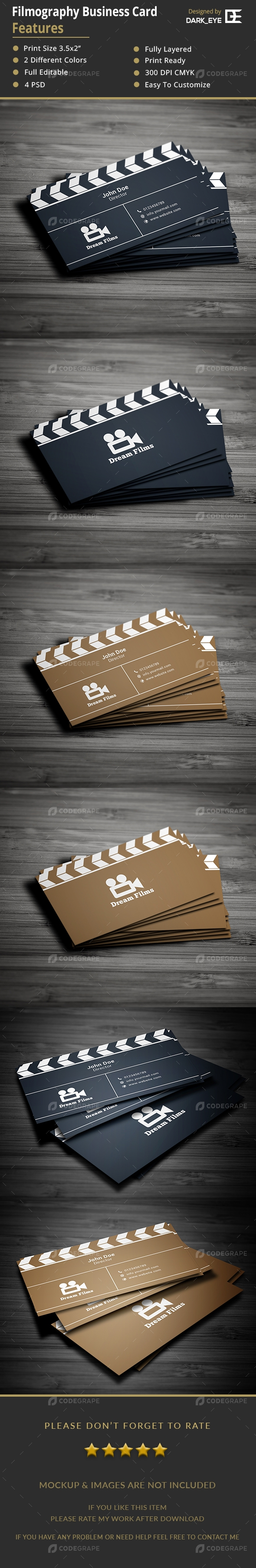 Filmography Business Card