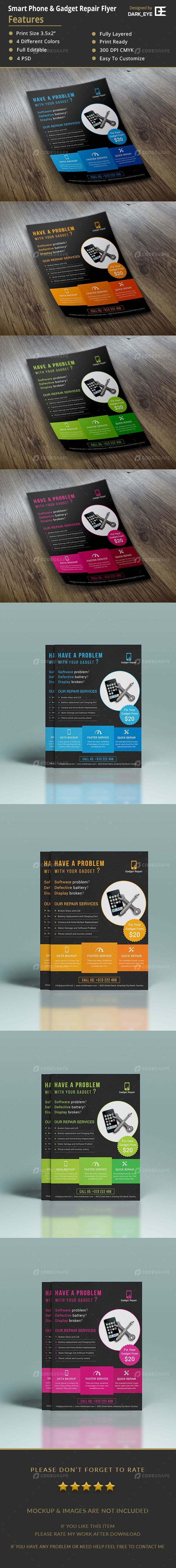 Smartphone & Gadget Repair Flyer