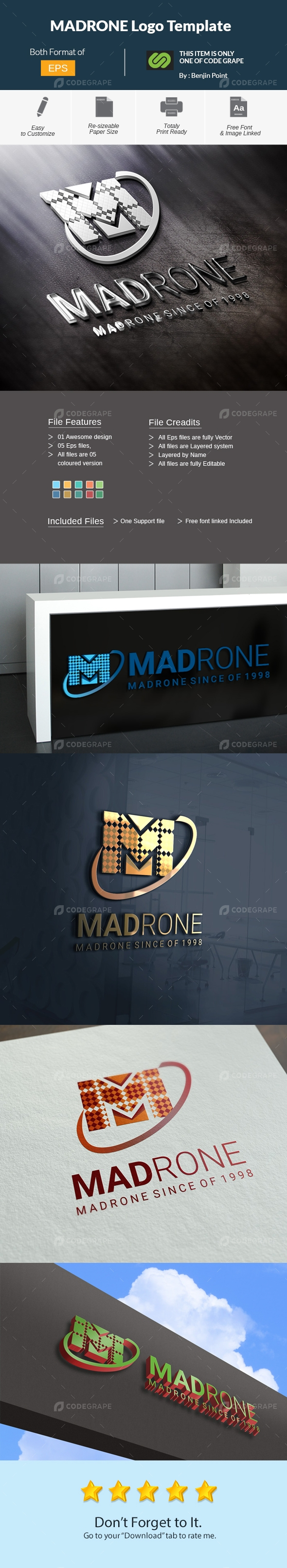 MADRONE Logo Template