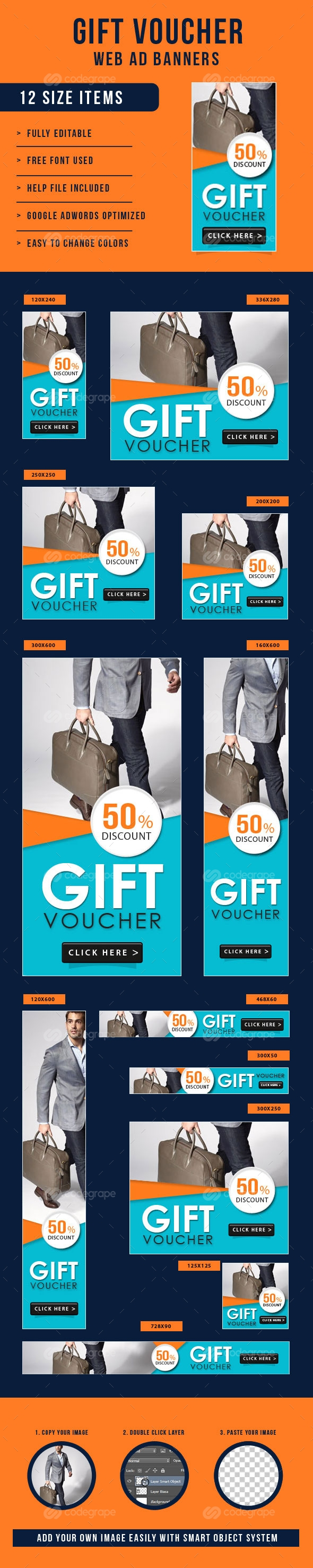 Gift Voucher Banners Ad
