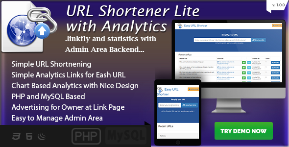 Easy URL Shortening  with Analytics - PHP MySQL