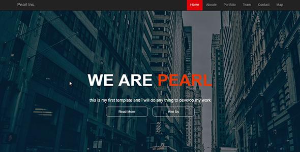 Pearl - One Page Portfolio Template