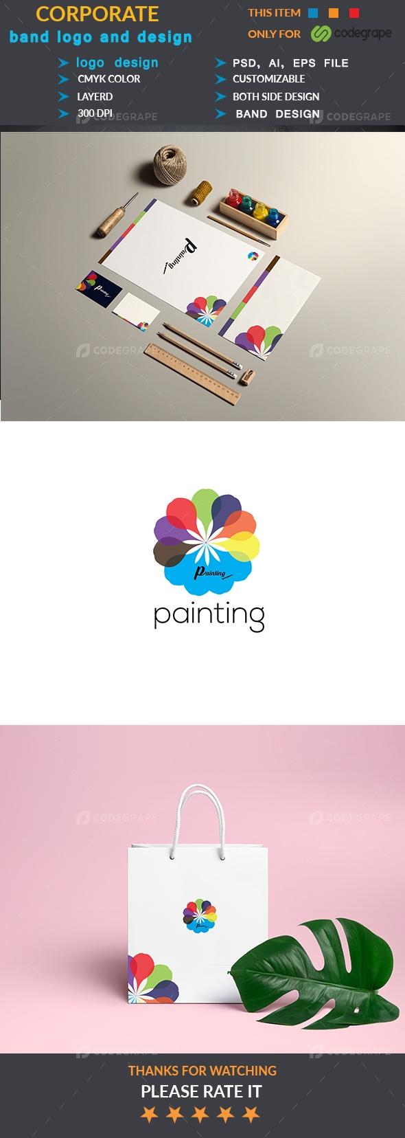 Corporate Painting Logo Design