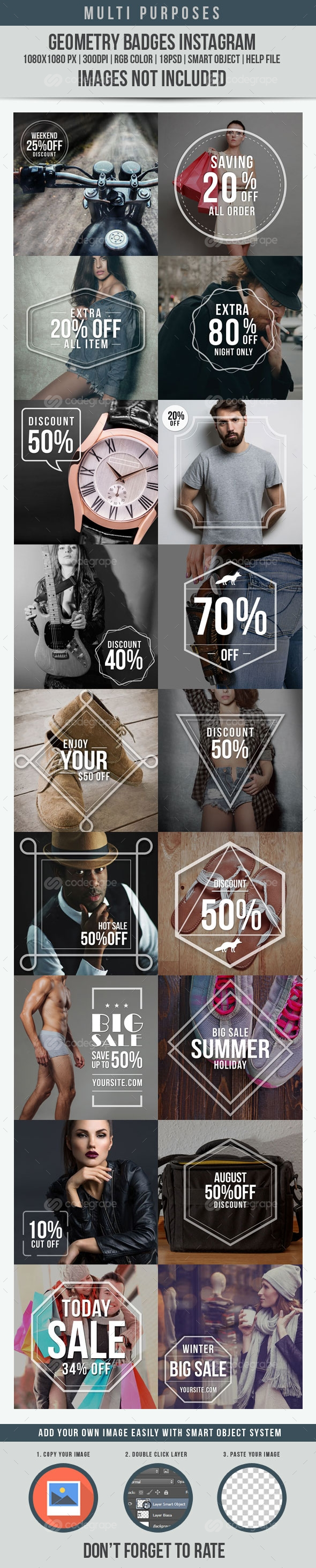 Geometry Badges Instagram Ad