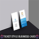 Corporate Ticket Style Business Card