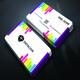 Rainbow Color Business Card
