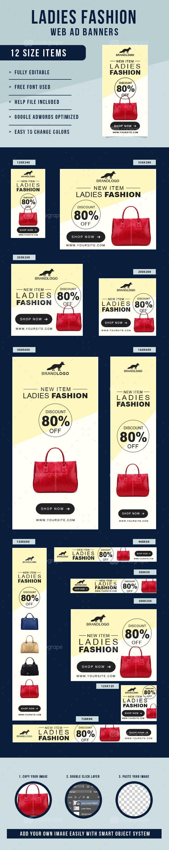 Ladies Fashion Web Ad Banners