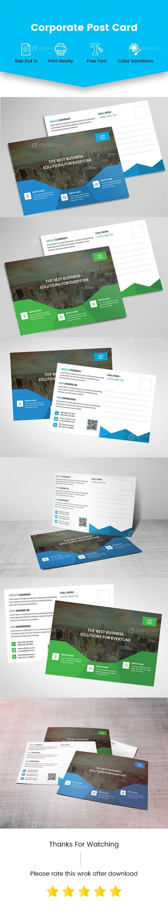 Corporate Post Card Templates