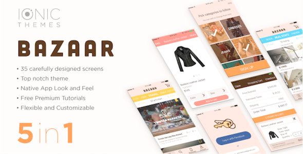 BAZAAR - Ionic Multi App Template (with optional WooCommerce integration)