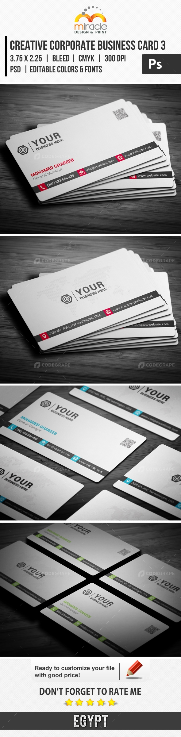 Creative Corporate Business Card 3
