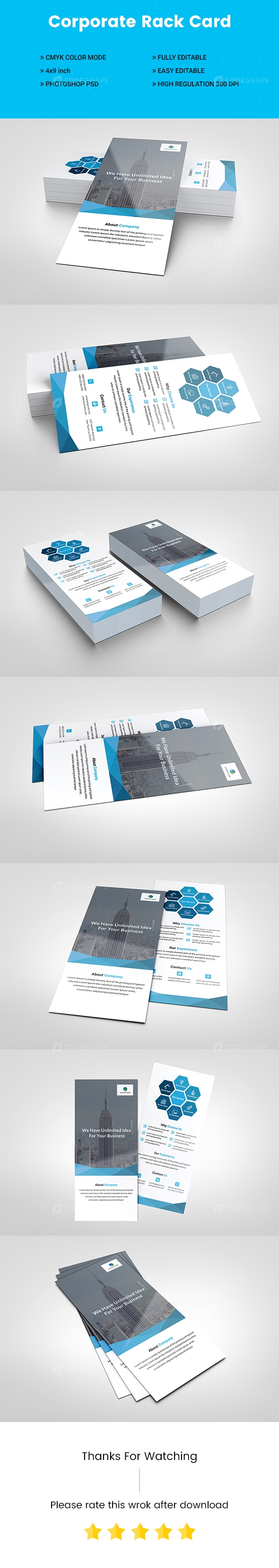 Corporate Rack Card Templates