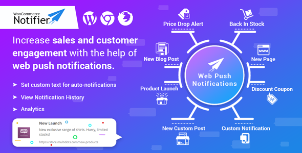 WooCommerce Notifier – Send Web Push Notifications