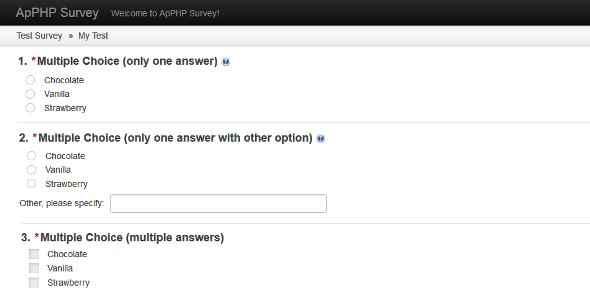 PHP Online Survey - PHP Script