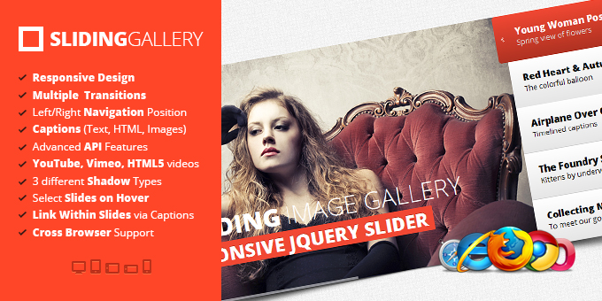 jQuery Sliding Image Gallery