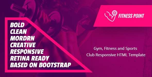 Fitness Point - Gym, Fitness and Sports Club Responsive HTML Template