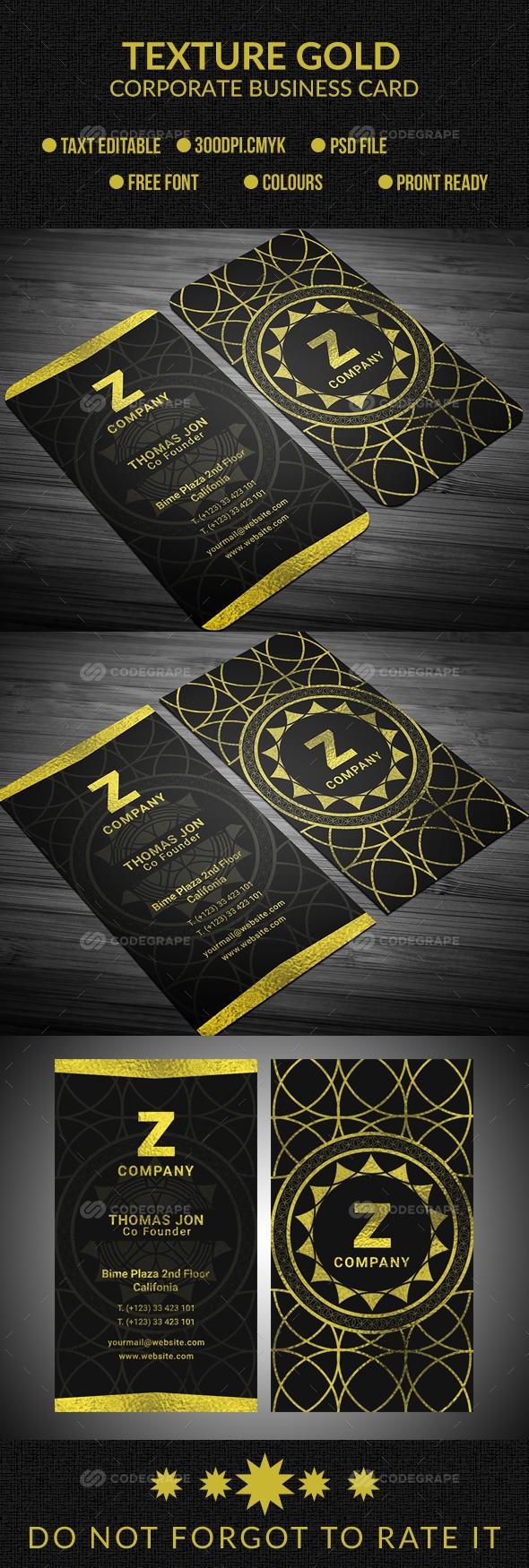 Texture Gold Business Card