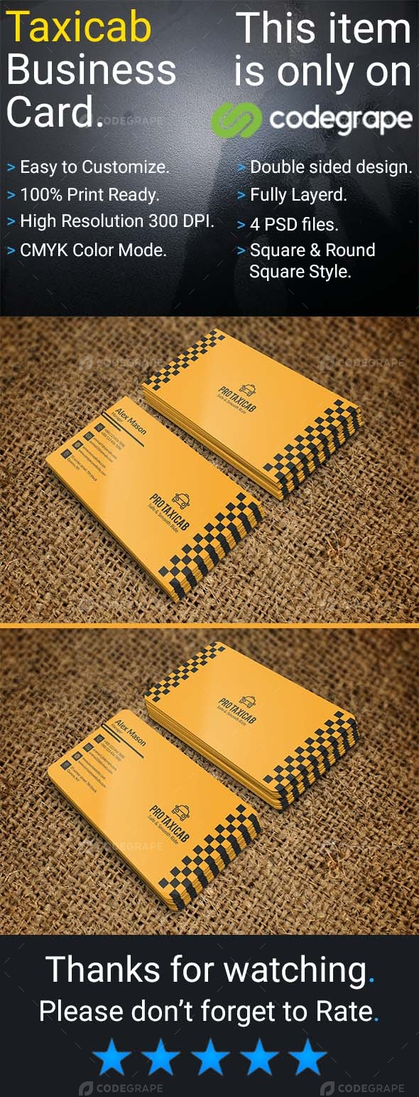 Taxicab Business Card
