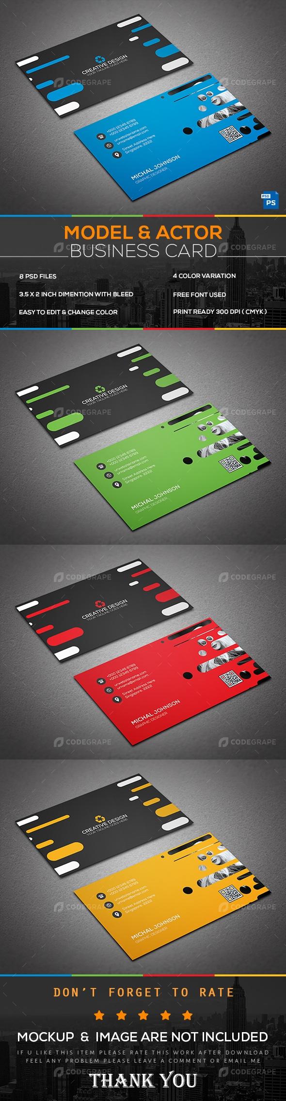 Model actor business card print codegrape model actor business card magicingreecefo Choice Image