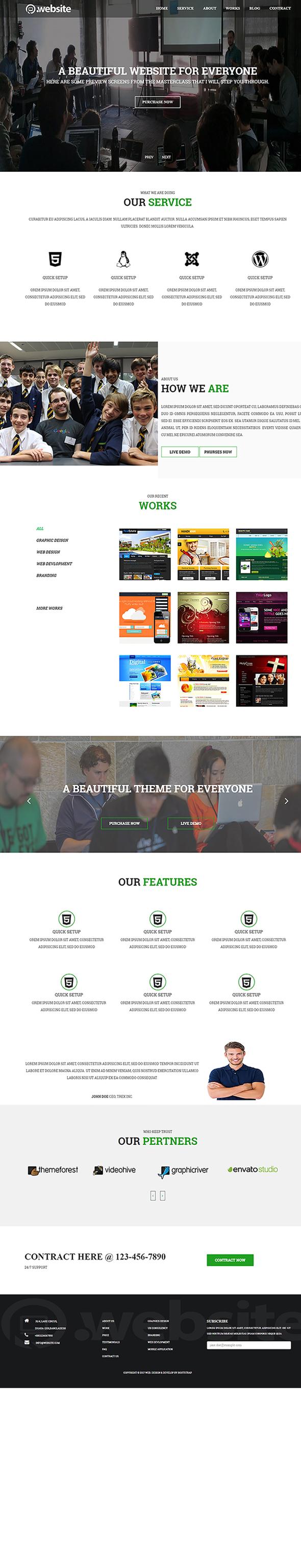 Web Service HTML Template