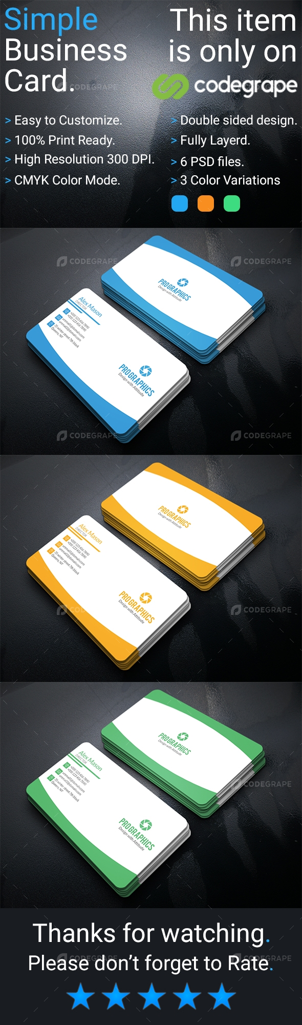 Simple Business Card Vol- 3