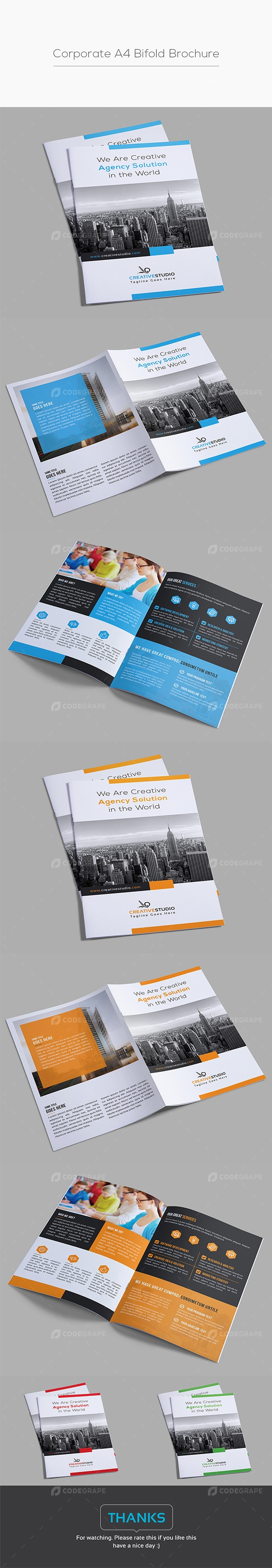 Corporate A4 Bifold Brochure
