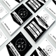 Retro Black and White Business Card
