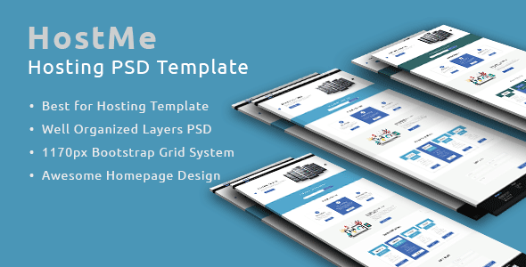 HostMe - A PSD Template for Hosting