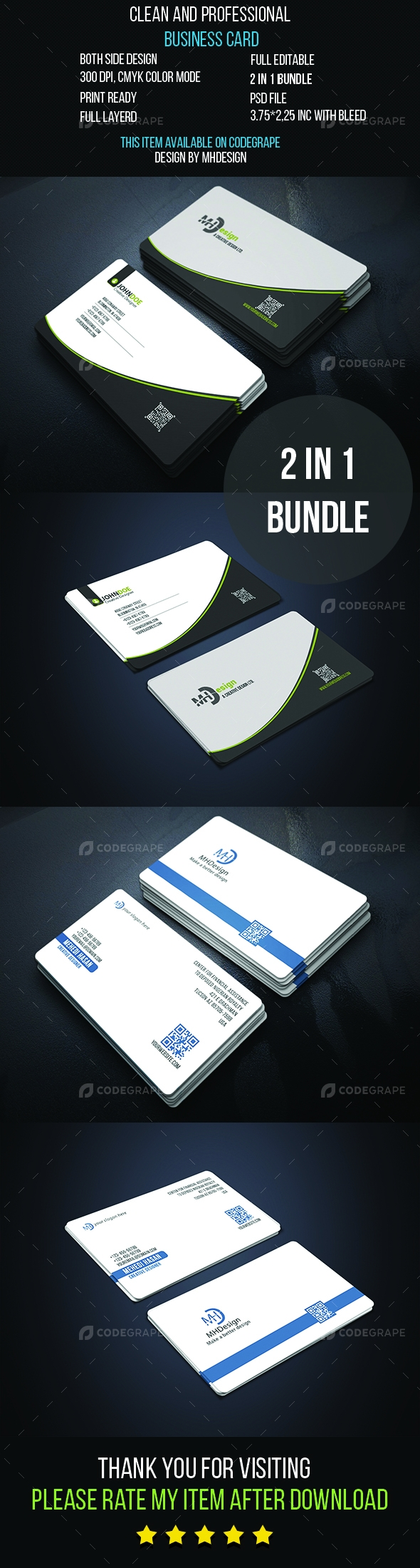 2 IN 1 Business Card