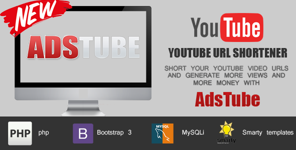 AdsTube - YouTube URL Shortener with adsense revenue sharing