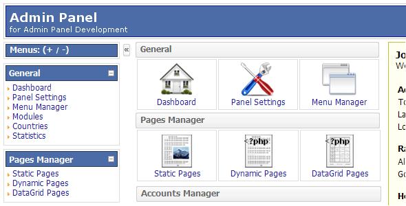 PHP AdminPanel Script