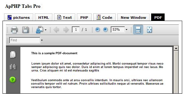 PHP Tabs - Multilevel Tab Menu Control